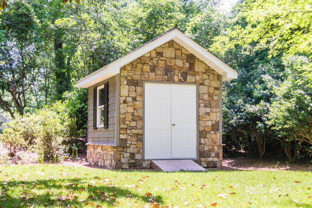 Stone Front Shed